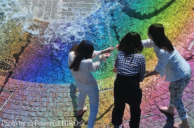 虹色水遊び