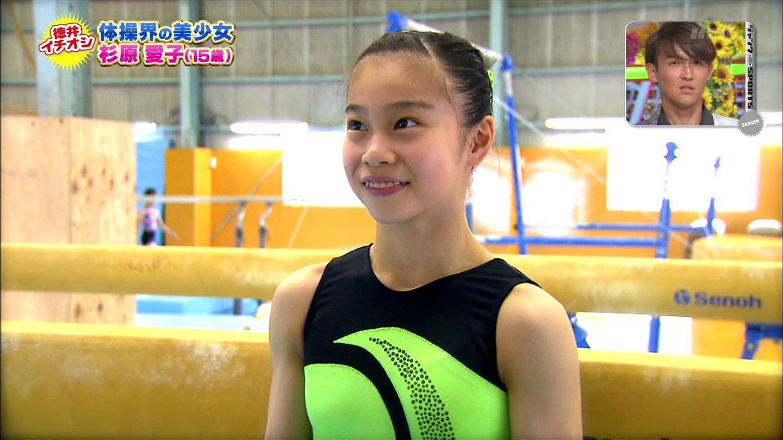 体操女子 杉原愛子の腹筋力こぶ ジャンクスポーツキャプ 0010