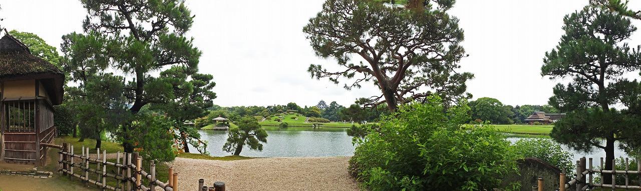 s-20150708 後楽園今日の観光定番位置からの眺め園内ワイド風景 (1)