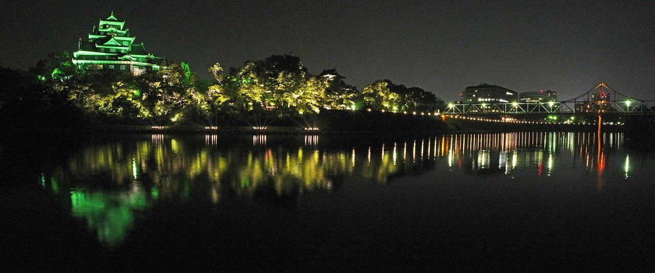 s-20150804 烏城灯源郷今日の水辺の回廊ワイド風景 (1)