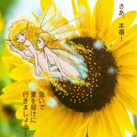 夏のひまわり妖精