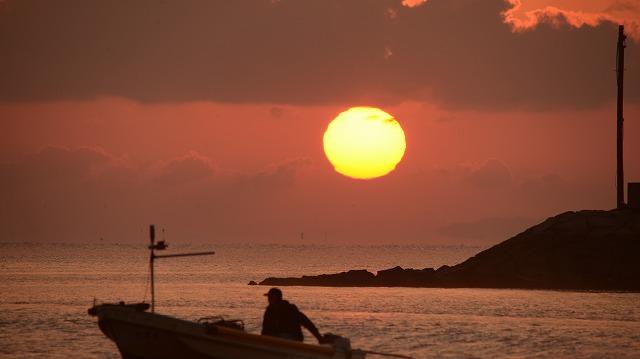 玉津港の日の出8