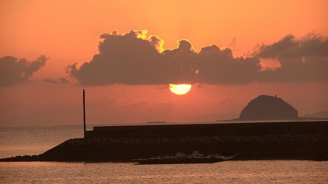 玉津港の日の出9
