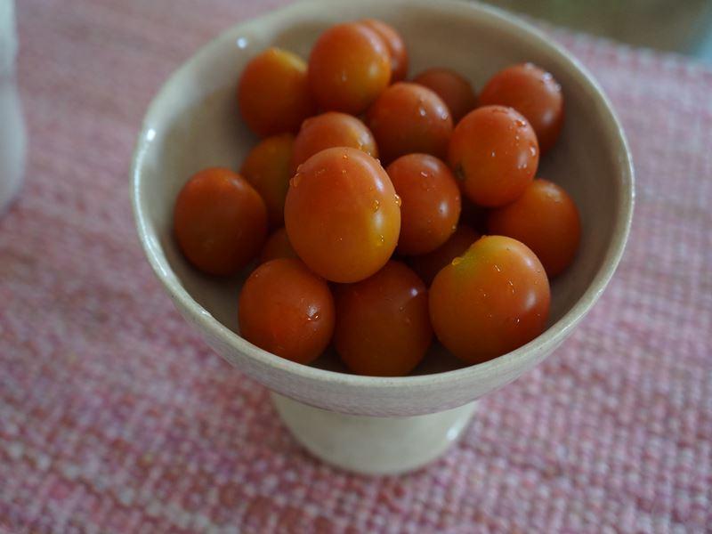 器にトマト
