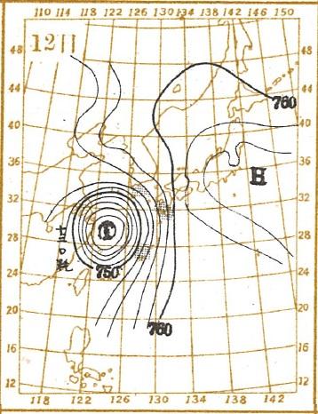19240712天気図