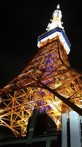 東京タワー夜