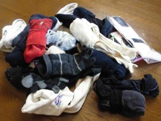夫の靴下全部