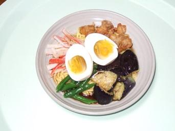 6/29 昼食 こんにゃく麺の冷やし中華