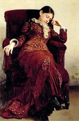 休息ーヴェーラ・レピーナ肖像