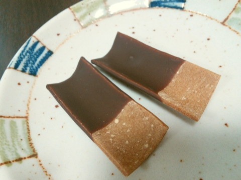おたべ チョコレート八つ橋 (4)