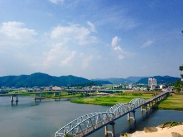 錦江を眼下に。風がとても気持ち良かったです