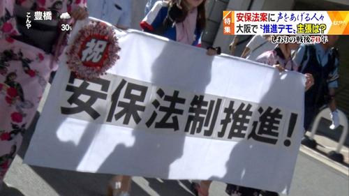凛風やまと・獅子の会 4 安保法制賛成デモ