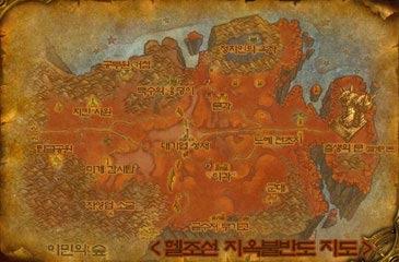 地獄の火半島地図