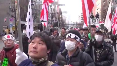 自作自演 ナチス礼賛デモ