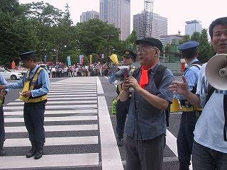 戦争法案反対!国会包囲行動3