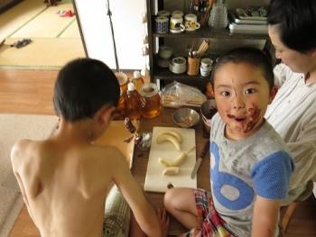 2チョコバナナ作り