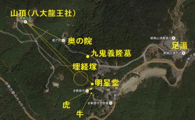 朝熊山マップ