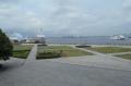 バルコニーから見た港の景色