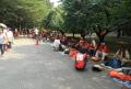 整然と並ぶオレンジ集団