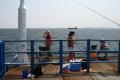 沖桟橋から見る海