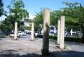 入口の円柱