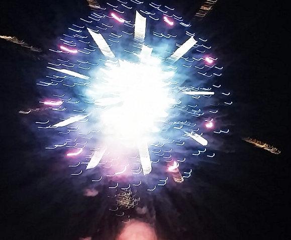 琵琶湖の花火①-1