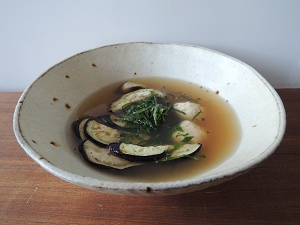 茄子の玄米スープ