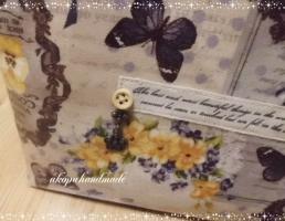 Vintage Collage Flower お弁当バッグ タグ