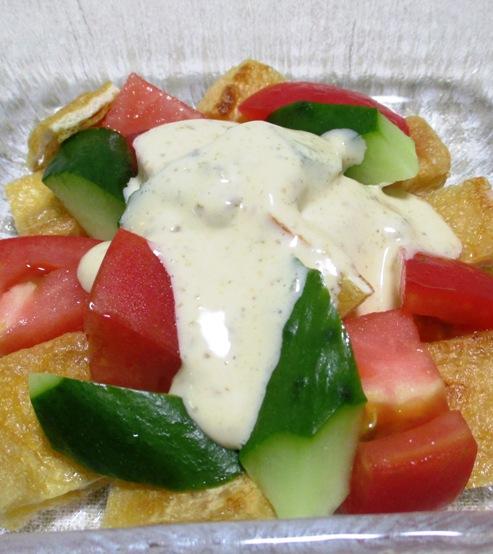 トマトとお揚げのサラダ B