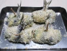 イワシの梅紫蘇巻きフライ 調理⑤