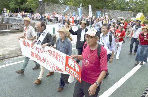 20150725安保法制反対パレード@静岡