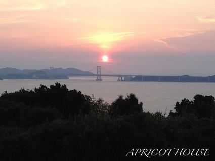 150803鳴門海峡夕日
