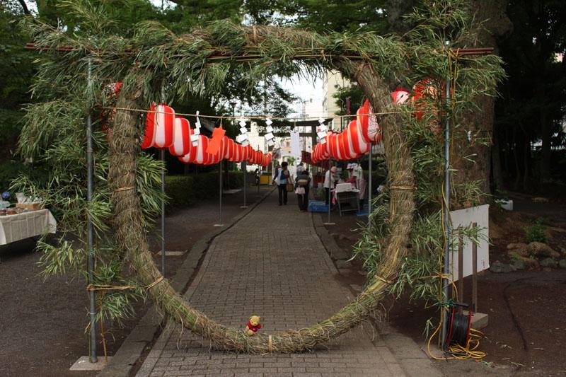 安東熊野神社・茅の輪潜り1 2015