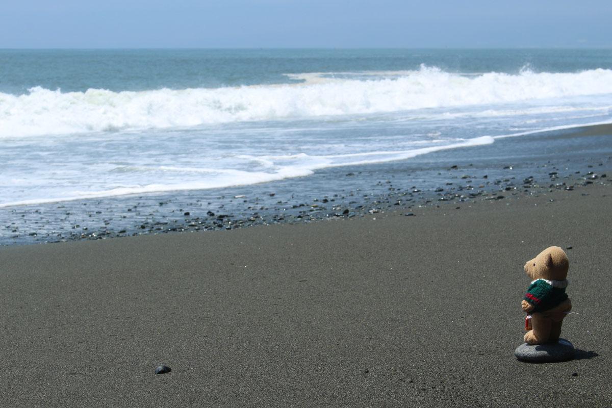 波を見る・国府津海岸 150710