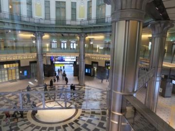 南ドーム2階の回廊からの景観