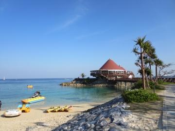 ホテルの海上レストラン