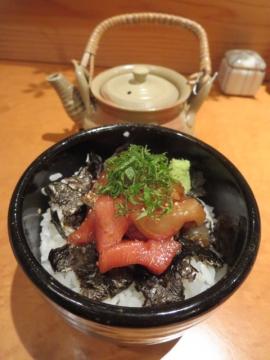漬け丼 茶出汁付き 1100円