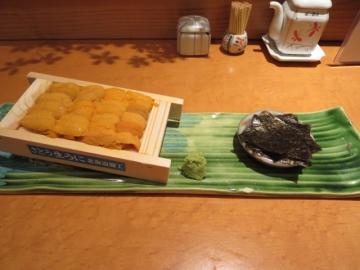 北海道産板ウニ一枚 4200円