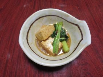 最後に豆腐や葱
