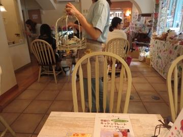 店内は、ことり雑貨が沢山。ことりケーキの鳥かごは白バージョンも