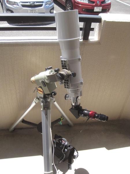 12cm太陽望遠鏡全体