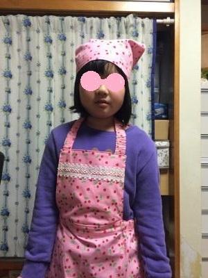 苺エプロン三角巾400