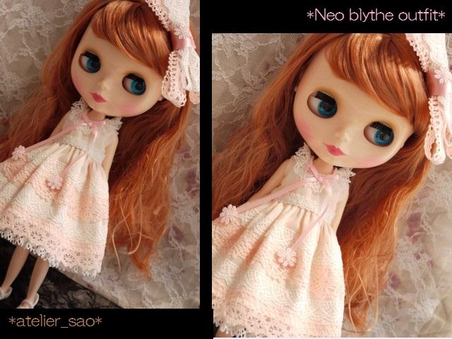 ◆ネオブライス服◆ピンクと白レースのサマードレス◇1