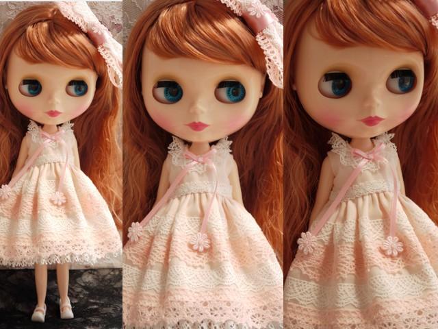 ◆ネオブライス服◆ピンクと白レースのサマードレス◇2