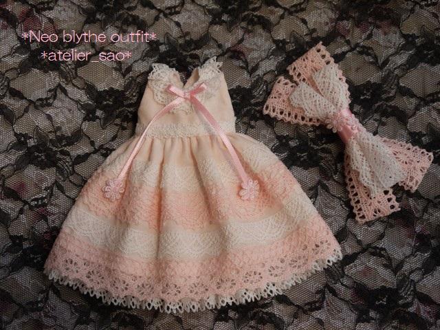 ◆ネオブライス服◆ピンクと白レースのサマードレス◇3