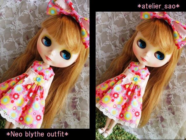 ◆ネオブライス服◆カラフルポップな花柄ドレス★ピンク◇ 1