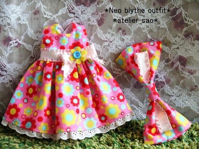 ◆ネオブライス服◆カラフルポップな花柄ドレス★ピンク◇ 3