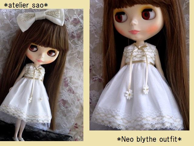 ◆ネオブライス服◆金レースのホワイトサマードレス◇1