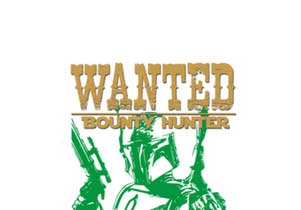 T-shirt WANTED Boba Fett