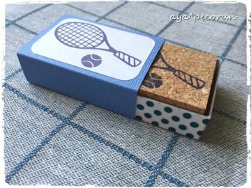 テニスラケット&ボールのはんこ 印影